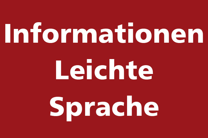 Corona - Informationen in leichter Sprache